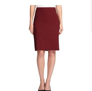 DKNY NWT Solid Knee-length Pencil Skirt Size 16